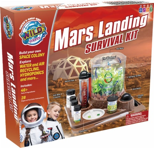 WILD! Science Mars Landing Survival Kit Perspective: front