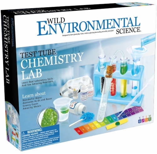 Wild Environmental Science Test Tube Chemistry Lab Kit Perspective: front