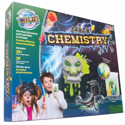 WILD! Science Crazy Chemistry Experiment Kit Perspective: front