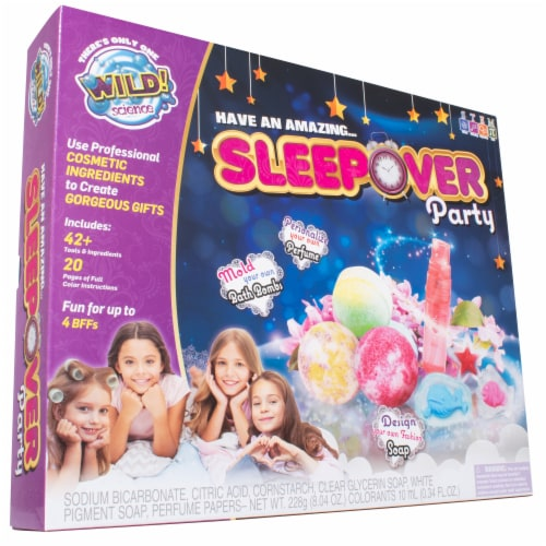 WILD! Science Sleepover Party Spa Kit Perspective: front