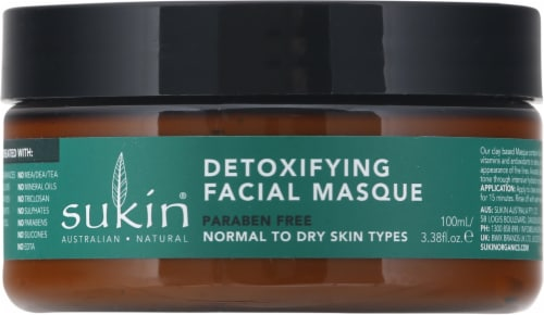 Sukin Super Greens Detoxifying Clay Facial Masque Perspective: front