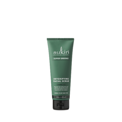 Sukin Super Greens Detoxifying Facial Scrub Perspective: front