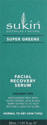 Sukin Super Greens Facial Recovery Serum Perspective: front