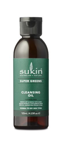 Sukin Super Greens Cleansing Oil Perspective: front