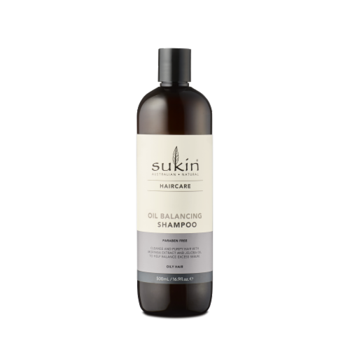 Sukin Haircare Oil Balancing Shampoo Perspective: front