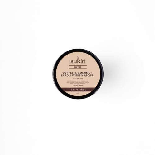 Sukin® Coffee & Coconut Exfoliating Masque Perspective: front