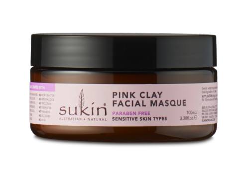 Sukin Sensitive Pink Clay Facial Masque Perspective: front