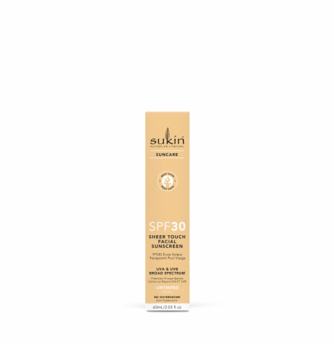 Sukin Suncare Untinted Sheer Touch Facial Sunscreen SPF 30 Perspective: front