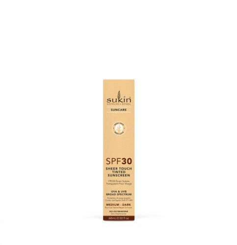 Sukin Suncare Medium-Dark Sheer Touch Tinted Sunscreen SPF 30 Perspective: front