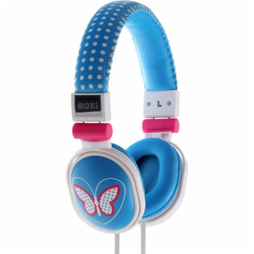 Moki Popper Butterfly Soft Headphones Perspective: front