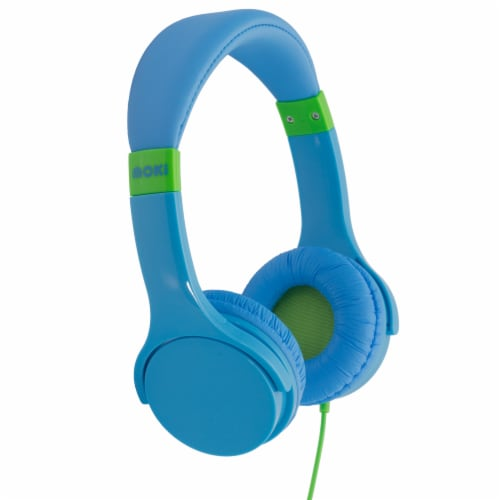 Moki Lil' Kids Headphones - Blue Perspective: front