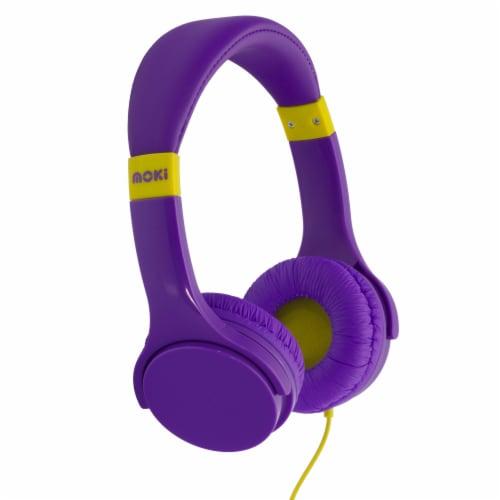 Moki Lil' Kids Headphones - Purple Perspective: front