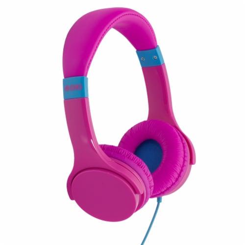 Moki Lil' Kids Headphones - Pink Perspective: front
