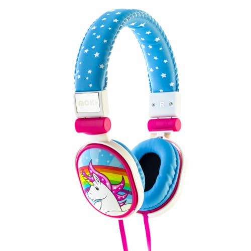 Moki Popper Unicorn Soft Headphones Perspective: front