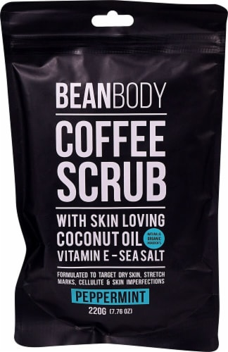 Bean Body Peppermint Coffee Scrub Perspective: front