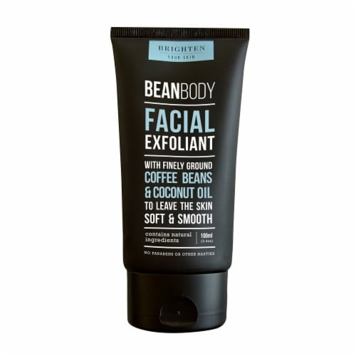 Bean Body Coffee Beans & Coconut Oil Facial Exfoliant Perspective: front