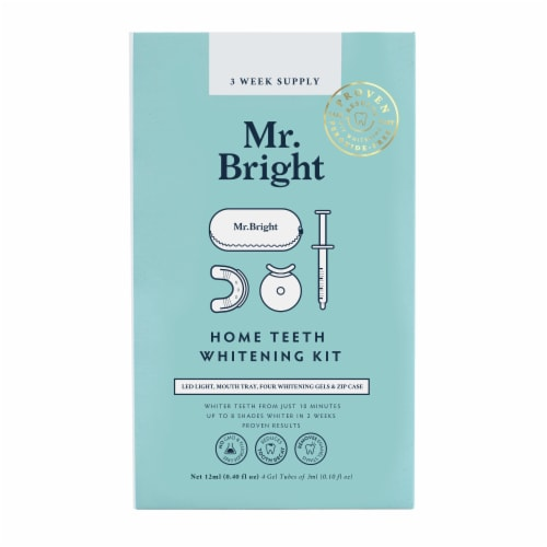 Mr. Bright Home Teeth Whitening Kit with Zip Case Perspective: front