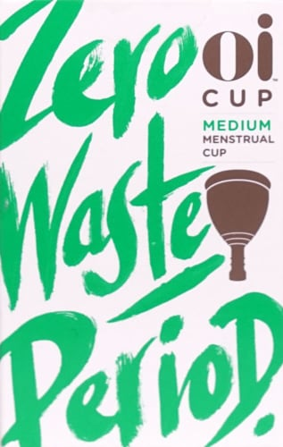 Oi Organic Initiative Medium Menstrual Cup Perspective: front