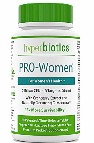 Hyperbiotics PRO Women Probiotic Tablets Perspective: front