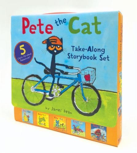 Pete the Cat Take-Along Storybook Set by James Dean Perspective: front