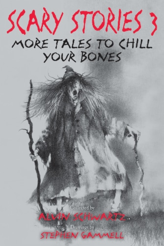 Scary Stories 3 More Tales to Chill Your Bones by Alvin Schwartz Perspective: front