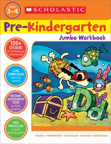 Pre-Kindergarten Jumbo Workbook by Scholastic Perspective: front