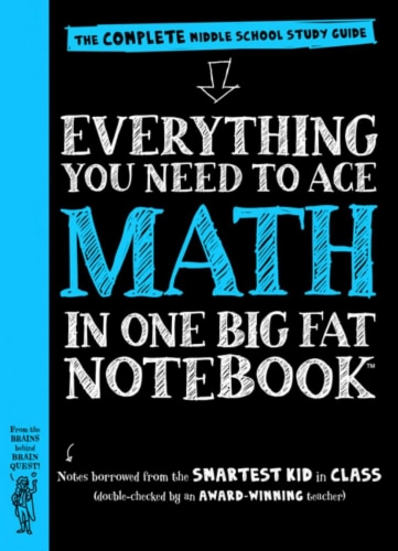 Everything You Need To Ace Math In One Big Notebook by Altair Peterson Perspective: front