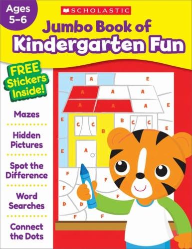 Jumbo Book of Kindergarten Fun Workbook by Scholastic Perspective: front