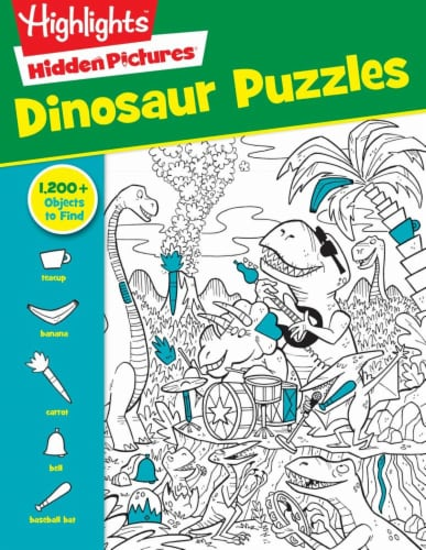 Hidden Pictures Dinosaur Puzzles by Highlights Perspective: front