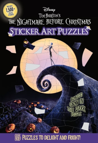 The Nightmare Before Christmas Sticker Art Puzzles Book by Disney Perspective: front