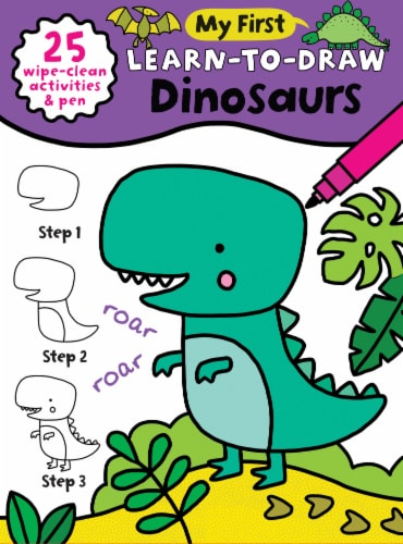 My First Learn To Draw Dinosaur Children's Drawing Book Perspective: front