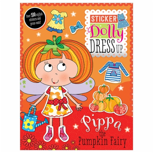 Pippa the Pumpkin Fairy Sticker Dolly Dress Up Activity Book Perspective: front