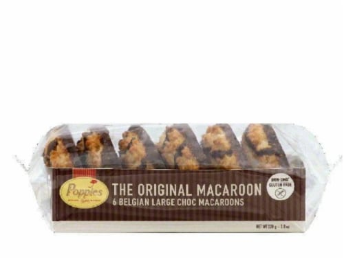 Poppies Choc Large Belgian Macaroons, 6 ea (Pack of 12) Perspective: front