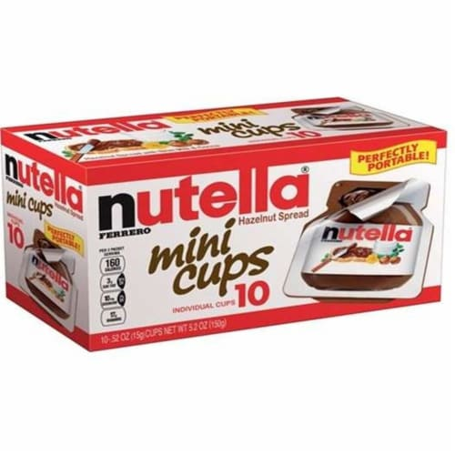 Nutella Mini Cups Hazelnut Spread, 5.2 Ounce - 10 cups per pack -- 12 packs per case Perspective: front