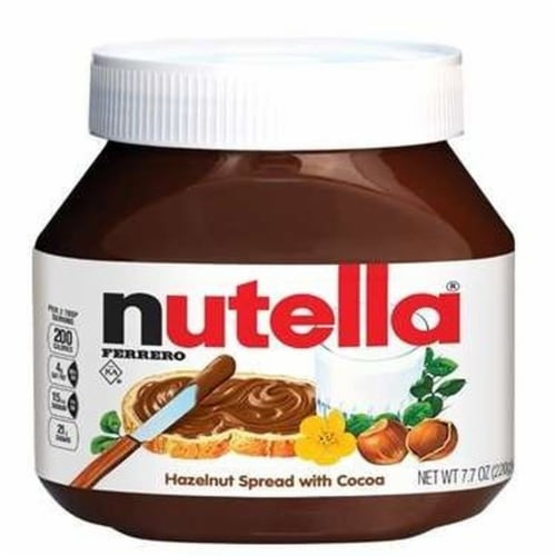 Nutella T7.7 x 12 Hazelnut Spread with Cocoa, 7.7 Ounce -- 12 per case. Perspective: front