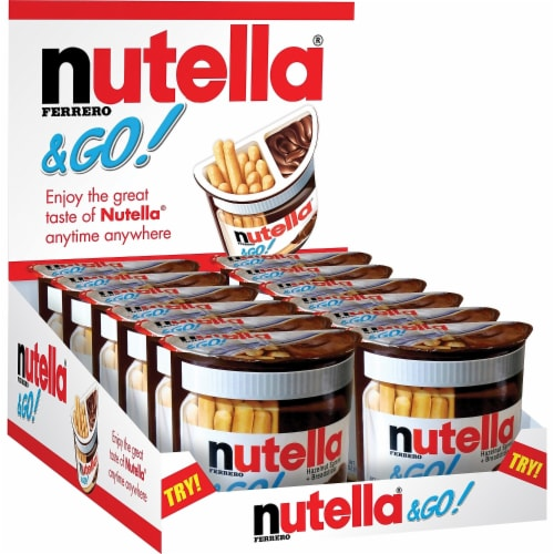 Nutella and Go Hazelnut Spread and Breadsticks, 1.8 Ounce -- 48 per case Perspective: front