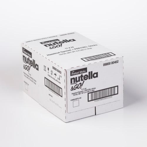 Nutella & Go! Hazelnut Spread + Pretzel Sticks Perspective: front