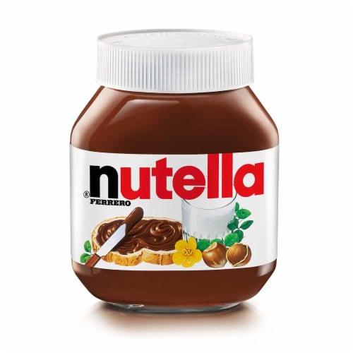 Nutella Original Hazelnut Spread, 26.5 Ounce Jar -- 12 per case. Perspective: front