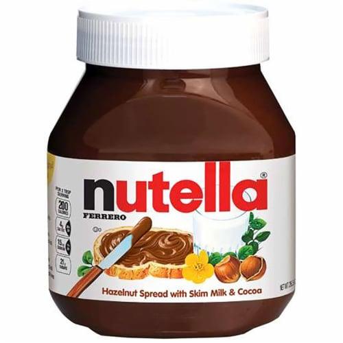 Nutella Spread Hazelnut, 26.5 Ounce -- 6 per case. Perspective: front