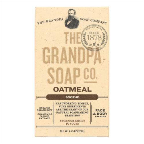 Grandpa Soap Bar Soap - Oatmeal - 4.25 oz Perspective: front