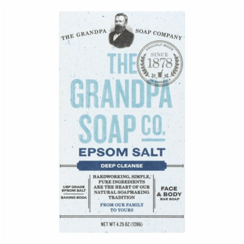 Grandpa Soap Bar Soap - Epsom Salt - 4.25 oz Perspective: front
