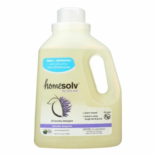 Citra-Solv Natural Laundry Detergent 2X Concentrate Liquid-Lavender Bergamot-6Case-50 Fl oz Perspective: front