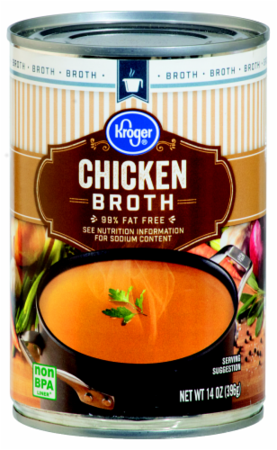 Kroger® 99% Fat Free Chicken Broth Case Sale Perspective: front