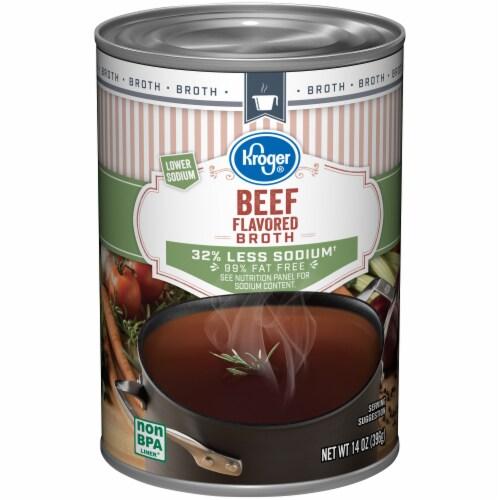 Kroger® Beef Flavored Broth Case Sale Perspective: front