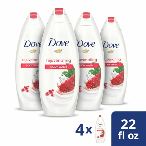 Dove Pomegranate & Lemon Verbena Scent Body Wash (4 Pack) Perspective: front