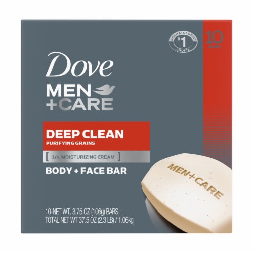 Dove Men+Care Deep Clean Soap Bars Perspective: front