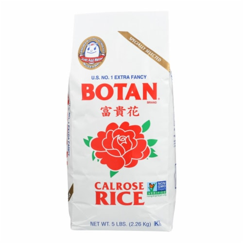 Botan Rice - Rice - Calrose - Case of 8 - 5 lb. Perspective: front