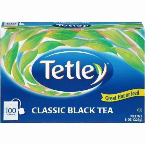 Tetley Classic Black Tea Bags 100 ct (Pack of 12) Perspective: front