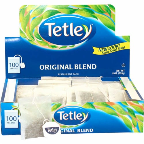 Tetley Original Blend Tea - 100 tea bags per box, 10 boxes per case Perspective: front