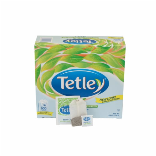 Tetley Select Naturally Decaffeinated Tea - 100 envelopes per box, 5 boxes per case Perspective: front